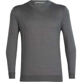 Icebreaker Quailburn Sweat-shirt à col en V Homme, timberwolf